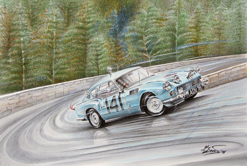 Triumph-Spitfire-al-Rally-di-Montecarlo-1965