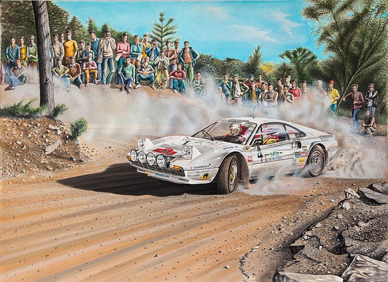 Lucky-Berro Rally isola d'Elba 1984 su Ferrari 308 GTB Gr.B